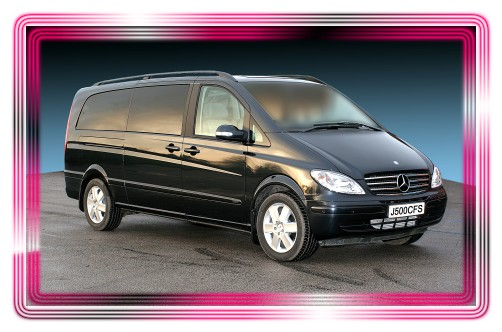 Mercedes Viano chauffeur driven people carrier.
