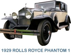 1929 Rolls Royce Phantom Sedanca Deville - For weddings and film set hires