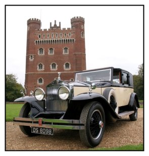 1929 Rolls Royce Phantom 1 Sedanca Deville, available for weddings in Huntingdon